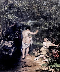 IMG_3691B Gustave Courbet. 1819-1877. Paris. Les Baigneuses. The Bathers. 1853.   Montpellier Muse Fabre. (jean louis mazieres) Tags: peintres peintures painting muse museum museo france montpellier musefabre gustavecourbet