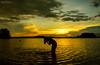 Bliss (animeshchanda) Tags: sky lanscape watercsape assam india sunset goldenhour clouds sundown