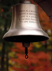 Cincinnati  Spring Grove Cemetery & Arboretum The Message Bell (David Paul Ohmer) Tags: ohio cincinnati spring grove cemetery arboretum springgrovecemetery gravesites burial grounds death spirit soul deceased graveyard conservatory victorian gothic revival national historic landmark adolph strauch cemetary autumn fall foliage tree leaves bell