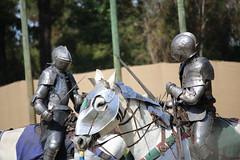 IMG_4749 (joyannmadd) Tags: horse rider joust spar duel warhorse hammoind louisiana armour outdoor game war combat midevil larenfest