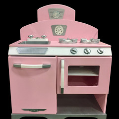 CHILDREN'S:  Child sized Vintage Stove in pink.