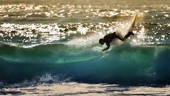 surf zone, the trail (Jose Antonio Pascoalinho) Tags: sport surf surfer summer sunset surfing water westcoast portugal outdoor ocean atlanticocean sea board people wave lip light spray beach action motion speed moments zedith