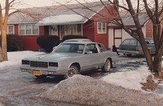 THE '81 MONTE CARLO IN 1984 (richie 59) Tags: ulstercountyny ulstercounty newyorkstate newyork unitedstates fordmotorcompany ford winter generalmotors chevrolet townofesopusny townofesopus nystate richie59 stremyny stremy america outside 1981chevy fordpinto pinto montecarlo chevymontecarlo pet oldphotograph olddays oldpicture oldphoto film dog petdog jan1984 1984 photoscan 1981chevymontecarlo 1981montecarlo 1980s 35mmfilm 35mm filmcamera filmphotography jan281984 1974fordpinto 1974pinto 1974ford 1970scars 1980scar americancars uscars automobiles autos motorvehicles vehicles cars frontend grill headlights gmcar gm fomoco coupe 2door twodoor hudsonvalley midhudsonvalley midhudson nys ny usa us snow frontyard yard driveway house