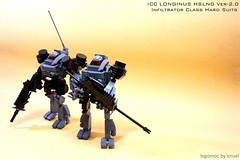 ICC Longinus (icycruel) Tags: lego moc scifi hardsuit battle armor military outpost charlie black ice team six