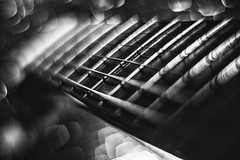 treacherous stairs (Luigi.glpy) Tags: vintage 5200 helios digital elettric blackandwhite stairs light swirly bokeh dettagli guitar gibson nikon
