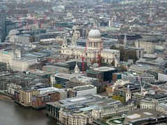 St Pauls from Shard (streetr's_flickr) Tags: theshardoflondon highrise panorama tallbuildings structures architecture london city stpaulscathedral riverthames