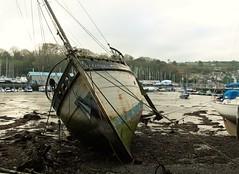 Penryn Quay, Cornwall, (cazzycoffeegirl) Tags: boat wreck penryn quay