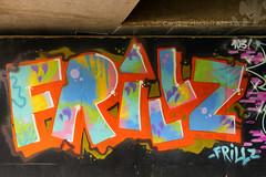 Day #3190 (cazphoto.co.uk) Tags: project366 beyond2922 240916 panasonic lumix dmcgh3 panasonic1235mmf28lumixgxvarioasphpowerois tag graffiti bridge streetart hoddesdon hertfordshire colourful frillz