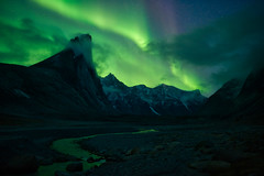 Quantum of Plasma (arturstanisz1) Tags: arturstanisz arctic auroraborealis auyuittug canada canadianarctic mountains nunavut mountthor northern lights