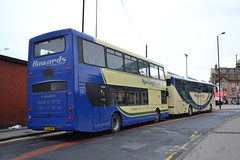 Howards Travel Group Y22HOW (Will Swain) Tags: manchester 29th october 2016 bus buses transport travel uk britain vehicle vehicles county country england english greater city centre north west warrington howards group y22how yv03pzf metrobus 436