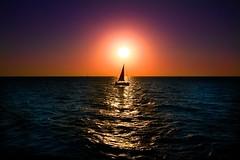 Sailing at sunset - Tel-Aviv beach (Lior. L) Tags: sailingatsunsettelavivbeach sailing sunset telaviv beach sailingatsunset sailboat sun sea seascapes travel sail israel travelinisrael sky