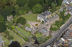 Tiverton Castle in Devon UK - aerial image (John D F) Tags: tiverton castle devon uk aerial aerialphotography aerialimage aerialphotograph aerialimagesuk aerialview droneview britainfromabove britainfromtheair