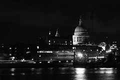 St Paul's Cathedral (MCorrigan1983) Tags: bw london st night river 50mm nikon cathedral kodak tmax f14 pauls 400 nikkor ais fe2 2015 400tmx