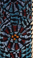 Elephant (Aka) Mask, detail with beadwork