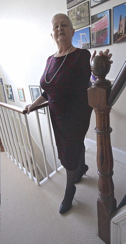 Frocks on the stairs