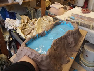 Clay outline and covered in alginate
