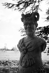 Croome Statues-3 (Gaz Collins) Tags: old england blackandwhite sculpture man detail art monument monochrome face statue stone person big hands ancient view adult symbol outdoor antique monochromatic marble nationaltrust isolated nikond3200