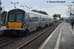 22041 departs Portlaoise, 9/9/15 (hurricanemk1c) Tags: irish train rail railway trains railways irishrail rok rotem portlaoise 2015 icr iarnród 22000 22041 éireann iarnródéireann 4pce 1525heustonlimerick