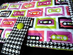 80s nappy wallet (The_Motherknit) Tags: baby bag babies sewing cotton quilting accessories boombox seamstress nappies houndstooth nappywallet