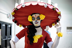 La Muerte (_Codename_) Tags: red calgary expo cosplay alberta sombrero comicon 2015 lamuerte bookoflife thebookoflife comicentertainment