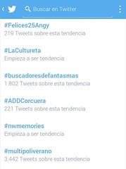 #Felices25Angy es Trending Topics