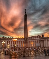 Vatican (Scottmh) Tags: travel sunset italy vatican stpeters rome roma building architecture clouds religious europe phone cathedral religion samsung galaxy hdr android s4 snapseed