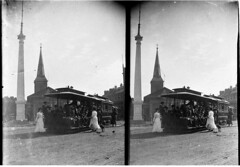 Tram No. 29, King-Ocean Street cable tram, Queens Square and St James' Church, 1901 / by Albert James Perier (State Library of New South Wales collection) Tags: statelibraryofnewsouthwales