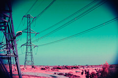 Pylons (dogtemple) Tags: infrared colorinfrared colourinfrared fullspectrum aerochrome