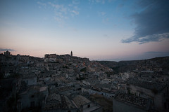 Matera at sunset (vincos) Tags: sunset italy landscape ancient ruins basilica matera sassi