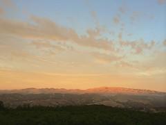 Sunset on the night of the Harvest Moon/Lunar eclipse (LOLO Italiana) Tags: ca sunset landscape dusk lunareclipse salinasvalley carmelvalley cloudyskies mounttoro