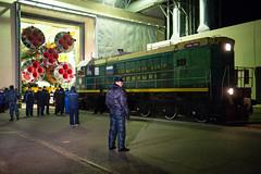 Expedition 42 Soyuz Rollout (201411210003HQ) (NASA HQ PHOTO) Tags: nasa kazakhstan preparation launchpad baikonur rollout soyuzrocket expedition42 aubreygemignani soyuztma15mspacecraft