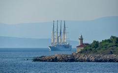 Adriatic Sea (01) - Wind Star (Vlado Ferenčić) Tags: adriatic adriaticsea jadranskomore jadran islands islandbrač croatia hrvatska croatianislands otoci windstar lighthouse nikond90 sigma150500563 sailboat sailboatship sailing vladoferencic vladimirferencic