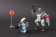 RCI Exo-suit and combat mech (FrostNovejkee) Tags: lego military future scifi mech rci hardsuit exosuit