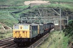 Class 76 Woodhead Tunnel west portal (kitmasterbloke) Tags: outdoor bobo railway locomotive coal pennines mgr woodhead doubleheaded class76 classem1