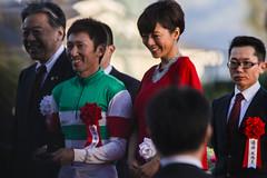 優勝騎手 蛯名正義騎手と釈由美子