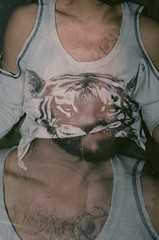 Wear Your Best Face : MIX 2015 (Pheral Lamb) Tags: portrait film face body doubleexposure multipleexposure queer nikonf4 maximalism maximalist mixnyc 357028 mixfilmfestival mix2015 wearyourbestface