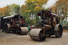 Fowler Rollers at Klondyke (Ben Matthews1992) Tags: old party club yard 1931 vintage compound rally transport traction leeds engine historic steam roller vehicle preserved rolling 1925 fowler dnb preservation bonzo morningstar klondyke haulage 2015 8ton 10ton dn1 16519 18507 nsctec sm8832 bw9211