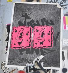 Vinnie Nylon (cocabeenslinky) Tags: street city uk pink england urban streetart london art lumix photography graffiti artist photos united capital stickers may kingdom east panasonic graff nylon vinnie eastend artiste 2015 dmcg6 cocabeenslinky