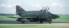 """RF-4C, SW 64-001, 16 TRS, deployment """"Salty Bee '86"""", Alconbury AFB, 25 July 1986 (Anne Fintelman) Tags: usaf rf4c usafe rafalconbury 16trs alconburyafb 16tacticalreconnaissancesquadron deploymentsaltybee86 saltybee86"""
