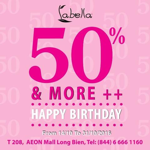 TƯNG BỪNG GIẢM GIÁ UP TO 50% CÙNG LABELLA