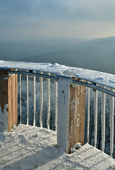 On the watch tower (Dalis.V) Tags: watchtower snow railing kelcskyjavornik hostynskevrchy czech