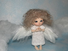 IMG_5107 (cat-soft paws) Tags:  hybrid feathers suitcase  people dress  indoor     realpuki clothes handmade  titi        angel wings sky clouds heaven air prayer ruby
