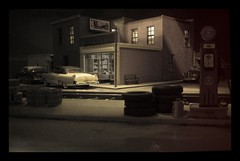 More from the Vault -  Faux Movie Set (Michael Paul Smith) Tags: 124th scale stage set design night scene