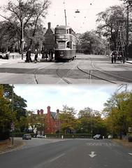 Ullet Road, Sefton Park, 1950 and 2016 (Keithjones84) Tags: belvedereschool belvedere seftonpark liverpool oldliverpool victorian history localhistory thenandnow rephotography school