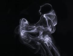 Smokey Joe and his Saxophone (zuni48) Tags: smokeart smoke monochrome blackbackground ethereal abstract