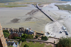 Mont St Michel - View from the Top (big_jeff_leo) Tags: stmichaelsmount montstmichel france castle rock coast abbey monk stone walls towers medieval normandy history heritage ancient old column gothic tidal estuary unesco island