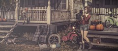 Autumn Evening..... (Gia Swizzle) Tags: serenitystyle truthhair vespertine sl secondlife vintage fri emery c88 collabor88 trompeloeil bueno ariskea fameshed lepoppycock monkeygirl halfdeer fall autumn