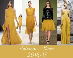 style-spicy-mustard-AH-2016 (creationsrc) Tags: dfil podium mode fashion femme woman pantone spicy mustard moutarde pic jaune yellow automne hiver fall winter 2016 2017 robe jupe veste dress skirt jacket