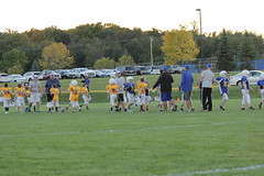 1474 (bubbaonthenet) Tags: 09292016 game stma community 4th grade youth football team 2 5 education tackle 4 blue vs 3 gold
