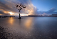 LOCH LOMOND SUNSET (Mark Callander) Tags: lochlomond milarrochybay scotland sunset 10stopper canon70d